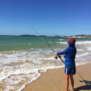fishing at rainbow beach