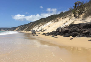 rainbow beach rocks
