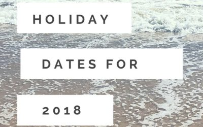 Long weekends, public holidays and school holidays for 2018 in QLD
