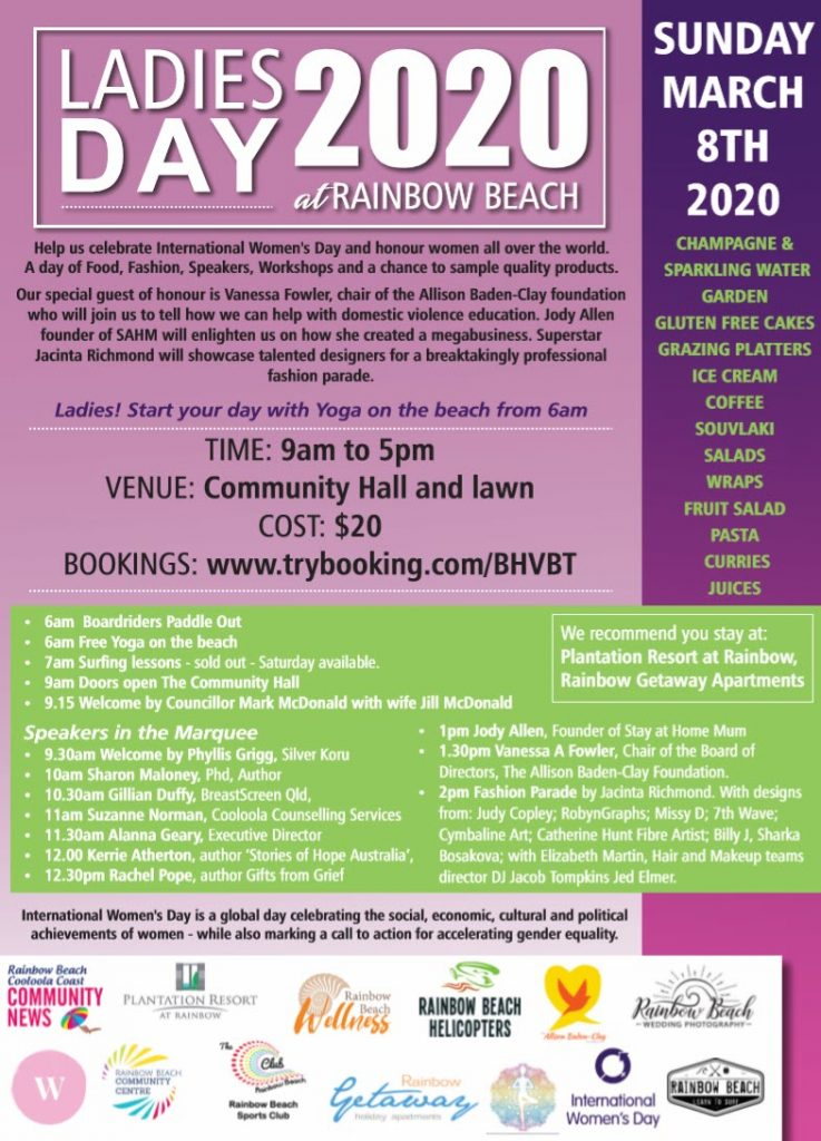 International Womens Day Program Rainbow Beach